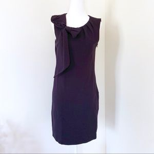 Milly shift dress bow neck navy blue S #418